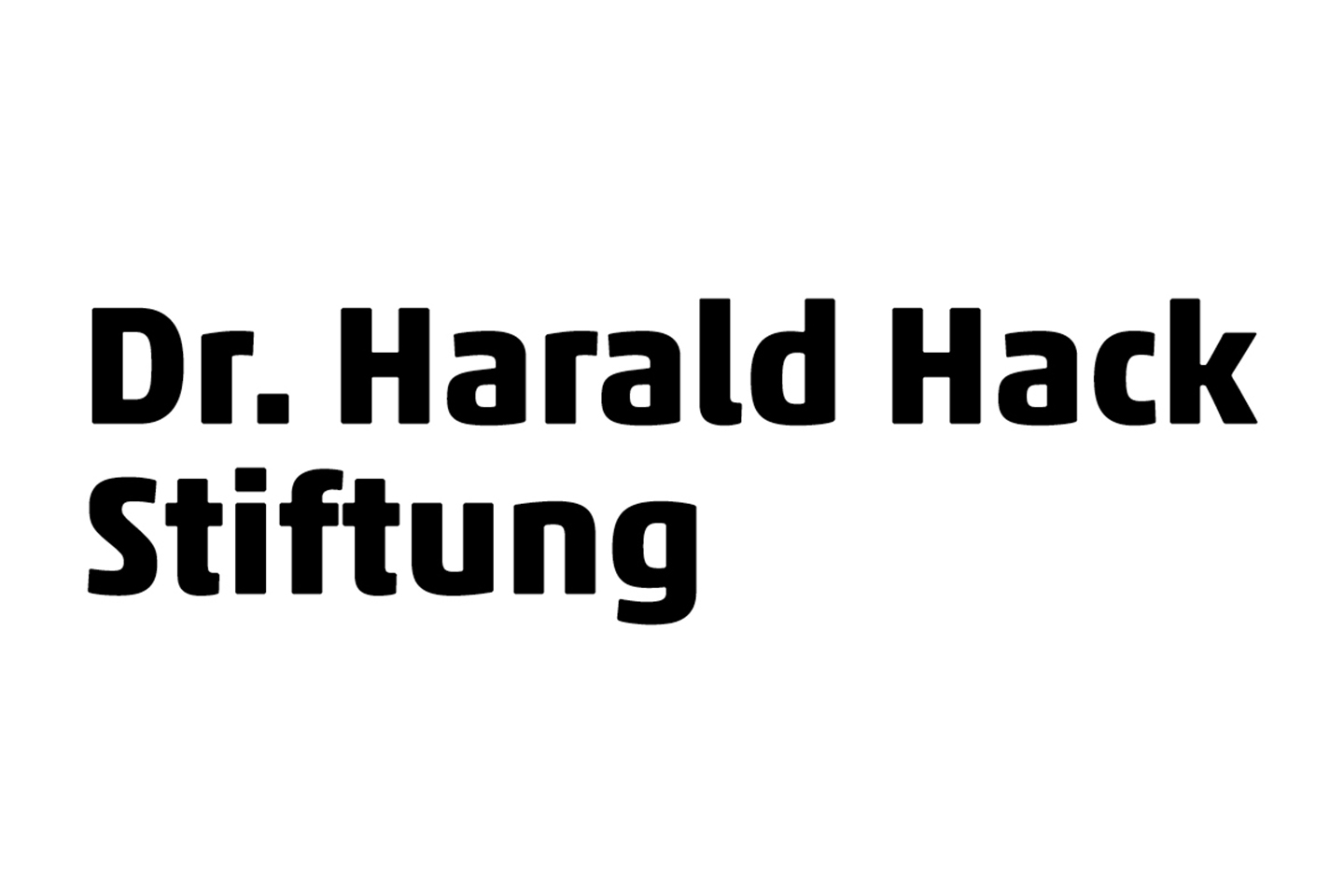 Dr. Harald Hack Stiftung