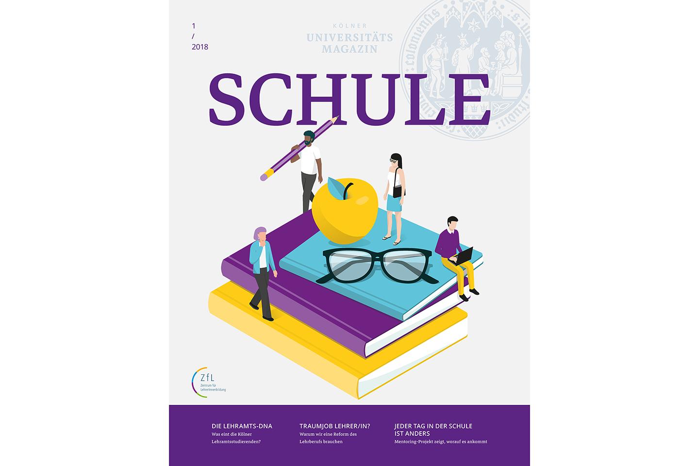 """ZfL-Beilage                                                 """"Schule"""" im                                                 Uni-Magazin"""
