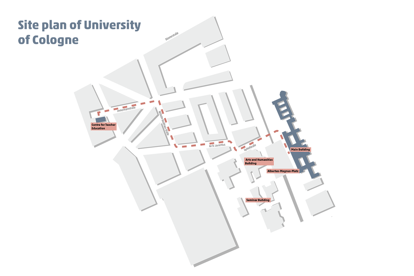 Site plan of University of Cologne